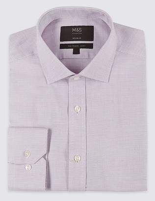 Marks and Spencer Cotton Blend Non-Iron Regular Fit Shirt