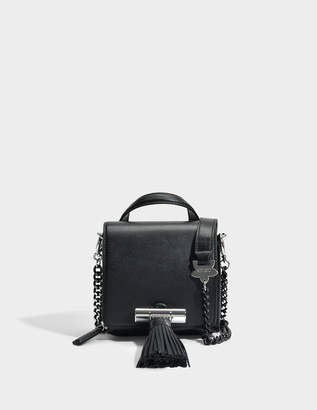 Kenzo Sailor Chain Mini Top Handle Bag in Black Leather