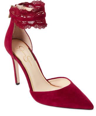 Jessica Simpson Sangria Portalynn Lace Ankle Strap Pumps