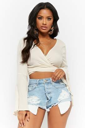 Forever 21 Distressed High-Rise Denim Shorts