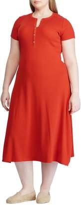 Lauren Ralph Lauren Plus Henley Midi Dress