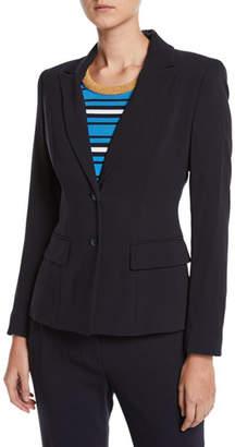 Escada Two-Button Wool Jacket w/ Striped Lining