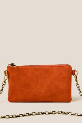 Silvia Crossbody Wallet - Rust