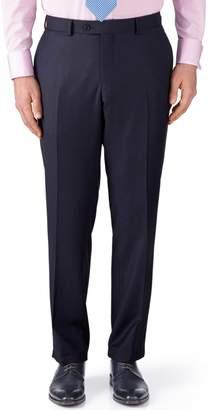Charles Tyrwhitt Ink Blue Classic Fit Birdseye Travel Suit Wool Pants Size W32 L32