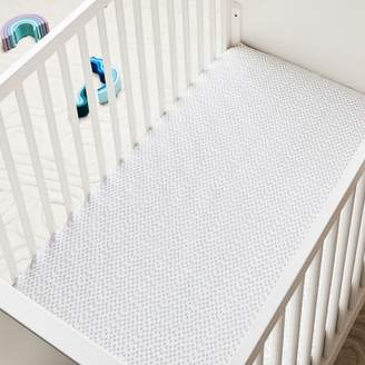 west elm Organic Harmony Crib Fitted Sheet - Platinum