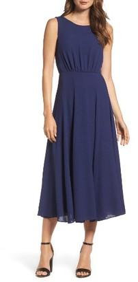 Women's Betsey Johnson Pebble Crepe Midi Dress $138 thestylecure.com