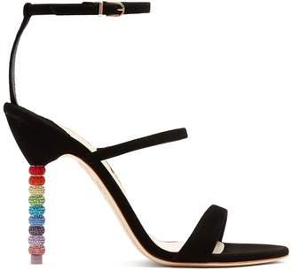Sophia Webster Rosalind crystal embellished-heel suede sandals
