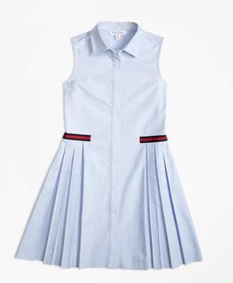 Brooks Brothers (ブルックス ブラザーズ) - GIRLS コットンオックスフォード グログラントリム ノースリーブシャツドレス