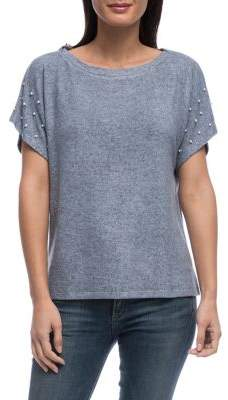 Bobeau B Collection by Kellie Pearl-Trimmed Tee