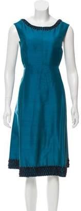 Lela Rose Embellished Midi Dress
