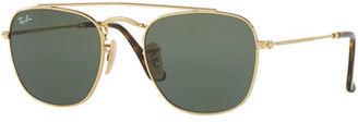 Ray-Ban Men's Square Double-Bridge Sunglasses $150 thestylecure.com