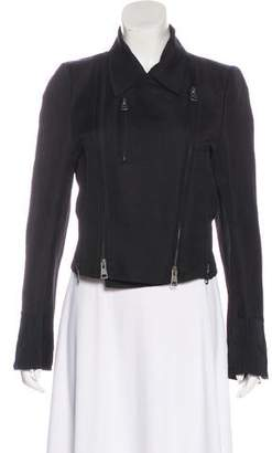 Ann Demeulemeester Linen-Blend Jacket