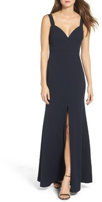 Women's Vera Wang V-Neck Gown $298 thestylecure.com