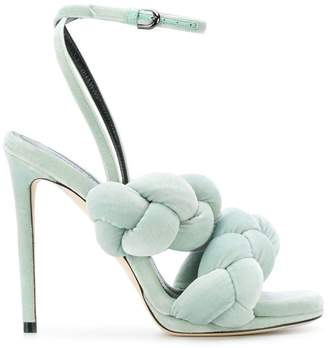 Marco De Vincenzo pleated strappy sandals