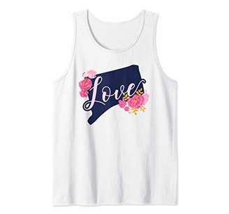 Connecticut Love Floral State Pride Tank Top