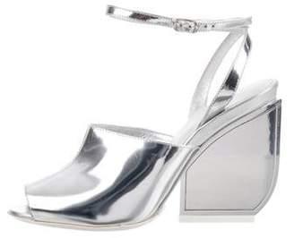 Maison Margiela Metallic Ankle Strap Sandals w/ Tags