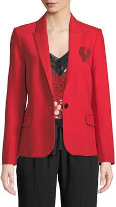 Zadig & Voltaire Amour Embellished Blazer Jacket