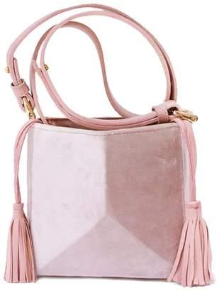 The Common Knowledge Mini Bone Bag In Blush Velvet
