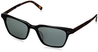 John Varvatos Unisex-Adult V601 V601BLA54 Polarized Square Sunglasses