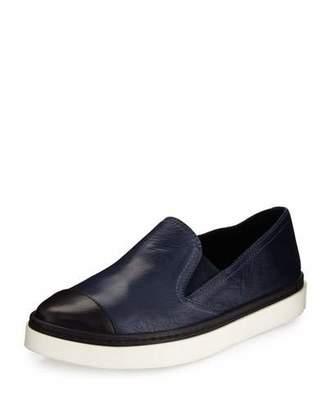 Andre Assous Danielle Cap-Toe Leather Skate Sneaker, Navy/Black $149 thestylecure.com