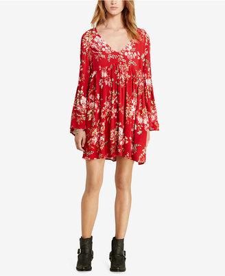 Denim & Supply Ralph Lauren Floral-Print Bell-Sleeve Dress $125 thestylecure.com