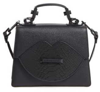 Kendall + Kylie Lips Leather Top Handle Satchel - Black $295 thestylecure.com