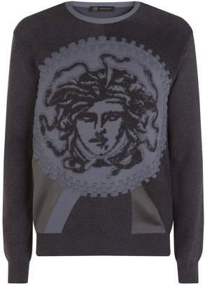 Versace Chenille Medusa Sweater