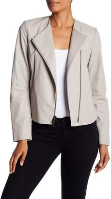 Vince Leather Asymmetrical Jacket