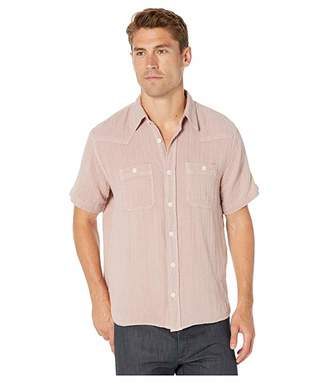 Frye Western Double Gauze Short Sleeve Shirt