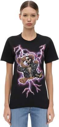 Dom Rebel Domrebel Teddy Print Cotton Jersey T-Shirt