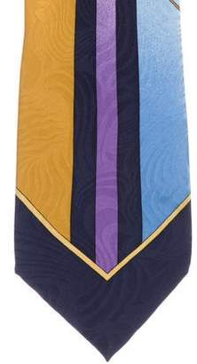 Gianni Versace Ornate Medusa Silk Tie