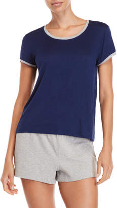 Rene Rofe Short Sleeve Ringer Sleep Tee