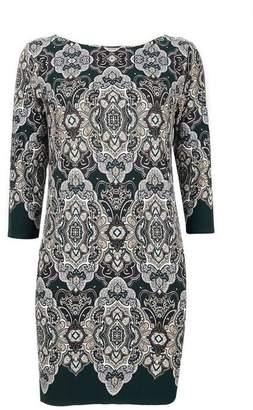 Wallis Petite Green Paisley Print Tunic Dress