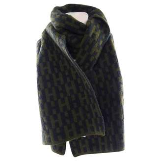Hermes Chale Green Cashmere Scarves
