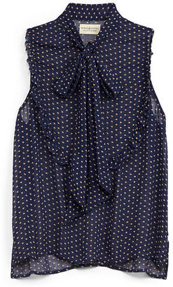 Ralph Lauren Denim & Supply Gauze Tie-Neck Sleeveless Top $89.50 thestylecure.com