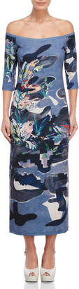Save The Queen Printed Jersey Dress