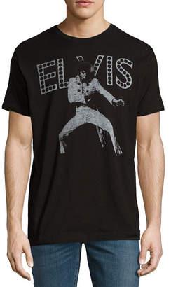 Novelty T-Shirts Elvis Vegas Lights Graphic Tee