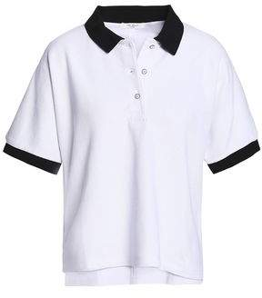 Rag & Bone Cotton-Blend Piqué Polo Shirt