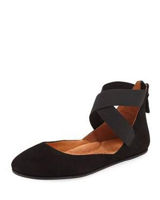Gentle Souls Bay Unique Ankle-Strap Ballet Flats