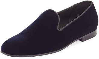 Giorgio Armani Men's Formal Velvet Round-Toe Slippers
