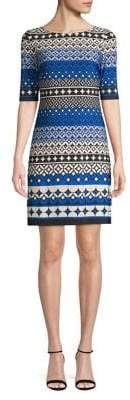 Eliza J Elbow Sleeve Printed Dress