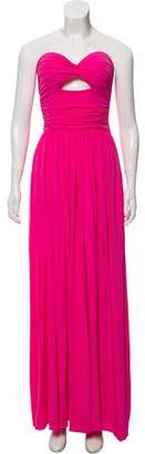 Michael Kors Gathered Strapless Gown