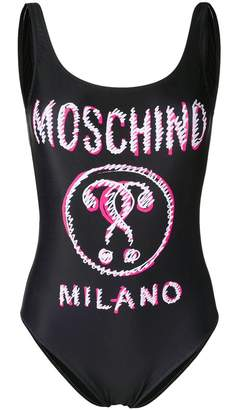 Moschino Scribble Double Question Mark swimsuit