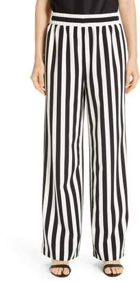 Alice + Olivia Benny Stripe Wide Leg Pants