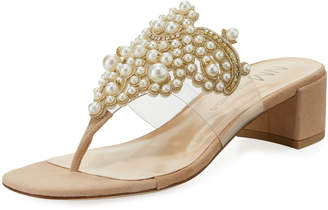 Neiman Marcus Vindee Pearly Thong Sandal