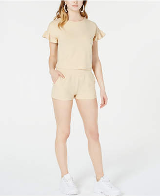 Material Girl Juniors' Back-Tie French Terry Crop Top