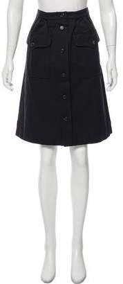 Saint Laurent Button-Up Knee-Length Skirt