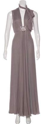 J. Mendel Embellished Sleeveless Gown