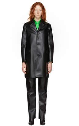 Kwaidan Editions Black Faux-Leather Coat