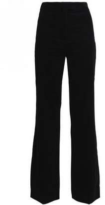 Alexa Chung Woman Satin-trimmed Wool-twill Straight-leg Pants Black Size 8 AlexaChung 4a9rF